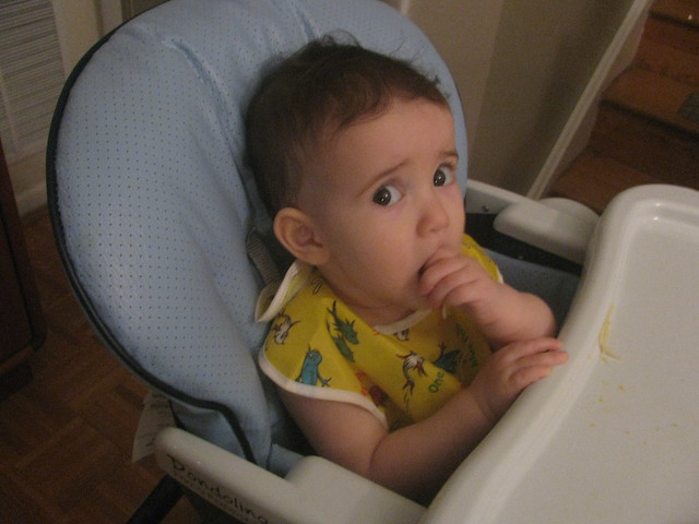 Madelief in High Chair