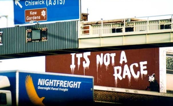 Its not a race by Banksy, Brentford