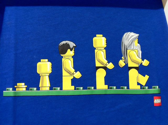 Photo:Lego Evolution By:Wesley Fryer