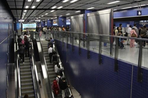 Escalators at Tai Wai station
