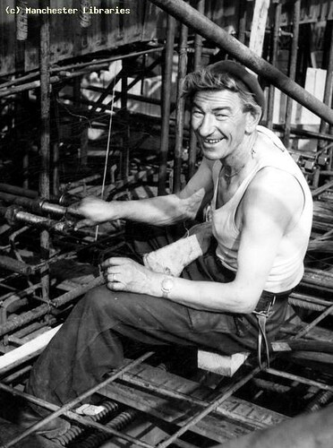 Polish workman, Fairfield Street Bridge, 1959