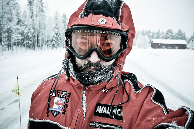 Dressed for snow riding