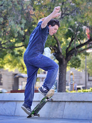 Skateboarding in Victoria Square