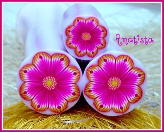 Murrina flor amarillo-fucsia