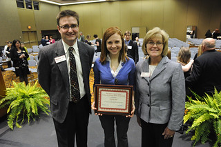Photo of an academic award