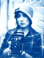 Cyanotype of Kathleen With Voigtlander