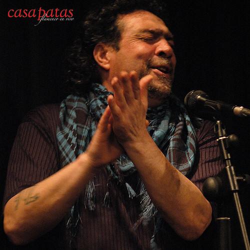 José Jiménez al cante. Foto: Martín Guerrero