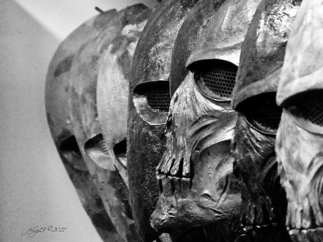 Fujifilm F300 camera skull mask