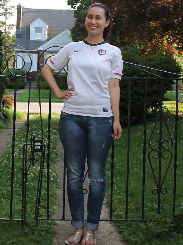 USA Jersey and BF Jeans | Shades of Sarah