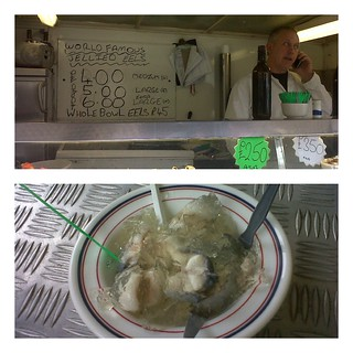 Jellied eels at Tubby Isaac's