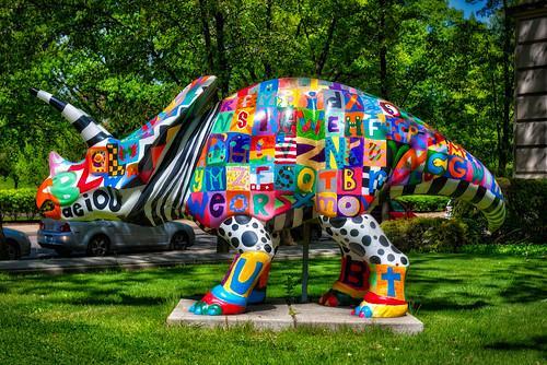 Colorful Stegosaurus