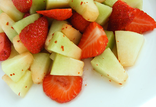 Spiced Melon & Strawberry Salad