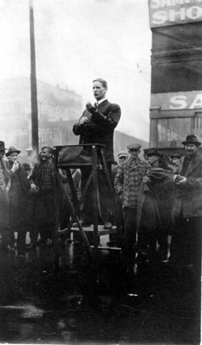 Arthur Boose speaking to crowd, circa 1910s-1920s, Not Dated