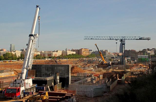 Obras Metro en puente del Trabajo