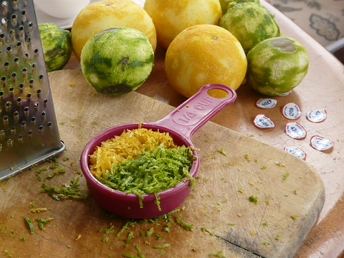 Grated peel - sweet and regular limes