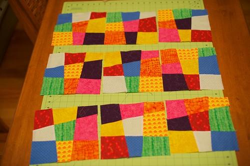 Crazy 9 patch quilt