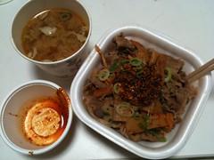 食べラー・メンマ牛丼+とん汁