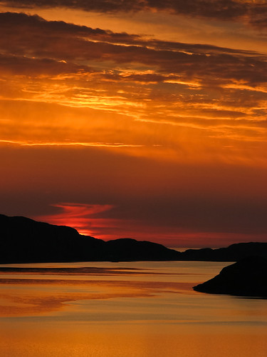 Sunset over Loch a Chairn Bhain