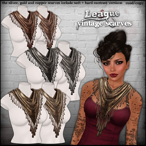 *League* Vintage Scarves1