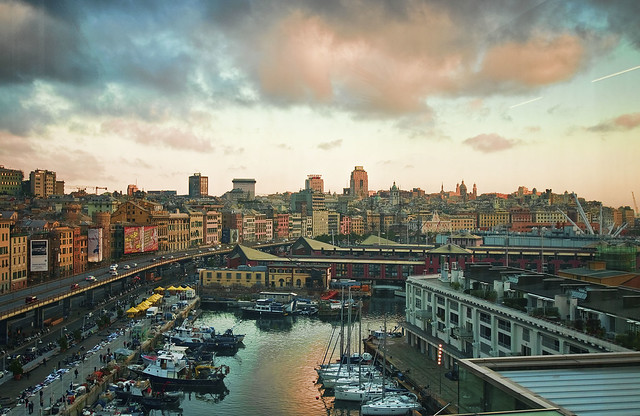 Image of Genoa, an old town in Italy