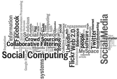social media, social networking, social computing tag cloud (#1)