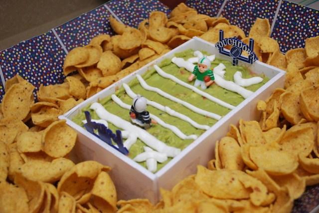 Taco Dip Snack Stadium (Close Up)