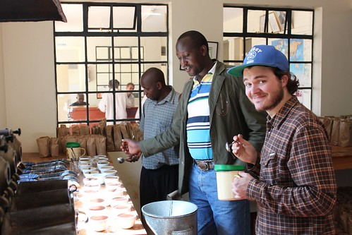Klaus Thomsen of the Coffee Collective with a big smile on his face at Kieni Estate in Kenya