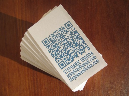Letterpress Business Cards with QR Code