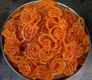 jalebi, an Indian sweet