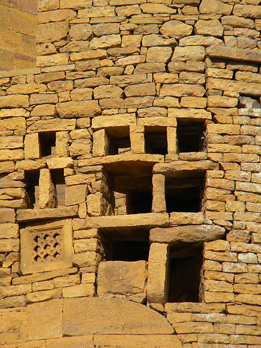 Jaisalmer golden stone wall