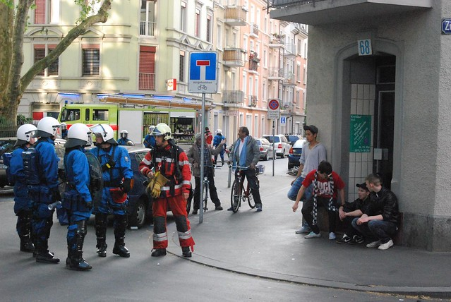 Riot Unit and Fire Man