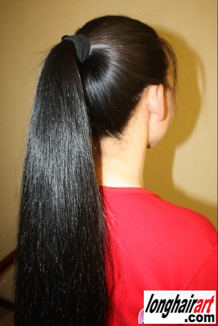 Chinese Long Blackhair Girls In Ponytail A Gallery On Flickr