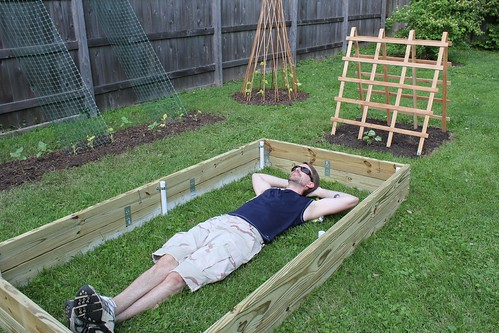 20110521. resting in the new (garden) bed.