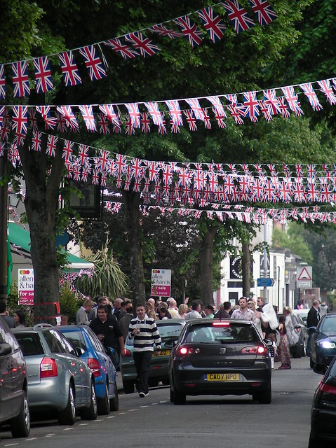 Royal Wedding street party preparations in Cardiff