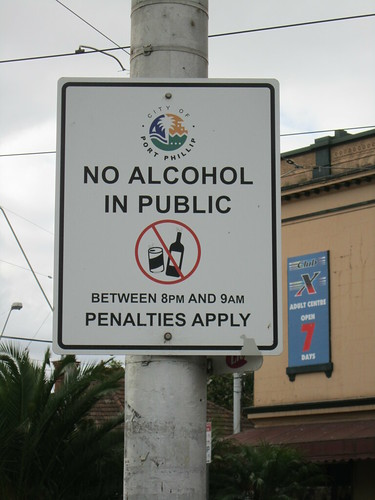 No Alcohol in Public Between 8PM and 9AM