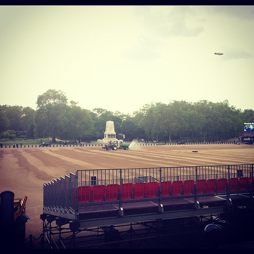 Beating retreat preparations..