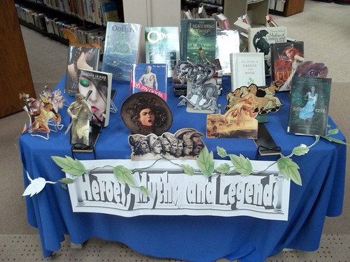 Heroes, Myths and Legends display by Moore Memorial Public Library CC Flickr