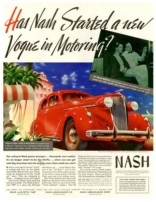 1937 Nash Ambassador Six 4-Door Sedan with trunk