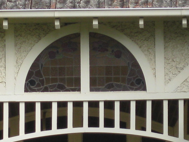 The Art Nouveau Stained Glass Lunette of Queen Anne Style Villa - Ballarat By raaen99