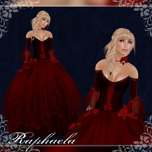 Raphaela - Gown - Ruby