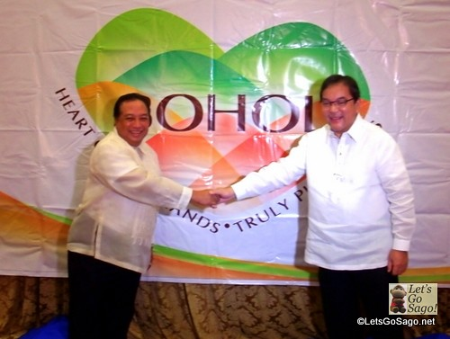 Bohol Gov. Edgar Chatto and DOT Secretary Ramon Jimenez, Jr.
