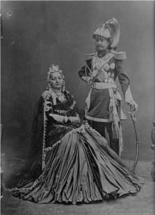 Sri 3 Maharaja Sir Jang Bahadur Rana and Mahiya Maharani, sister of Fateh Jang Chautaria