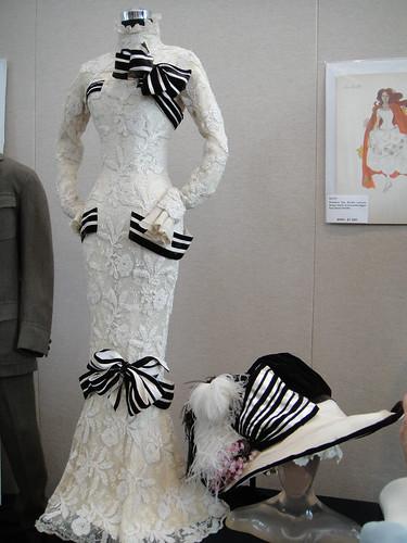 The famous Ascott dress worn by Audrey Hepburn's Eliza Doolittle in 'My Fair Lady'