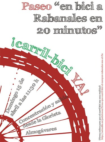 Marcha en Bicicleta a Rabanales el domingo 15 de abril.