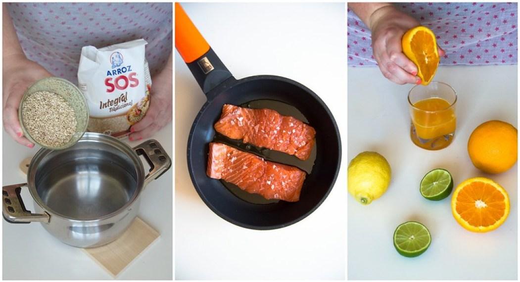 salmon con salsa de citricos
