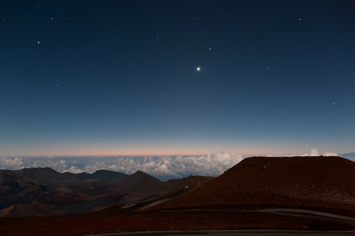 Pre-dawn at Haleakela Summit