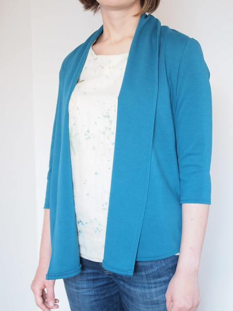 Teal knit jacket