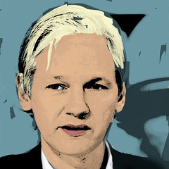 Internet memes: Julian Assange by Andy Warhol