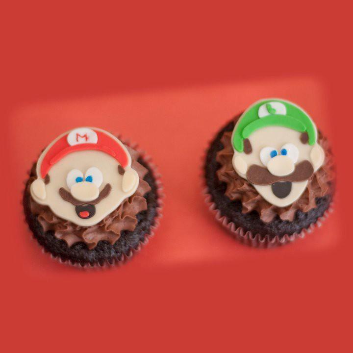 Mario & Luigi Cupcakes