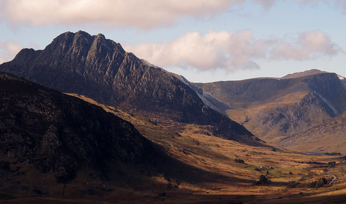 Tryfan and the Ogwen Valley from Crimpiau